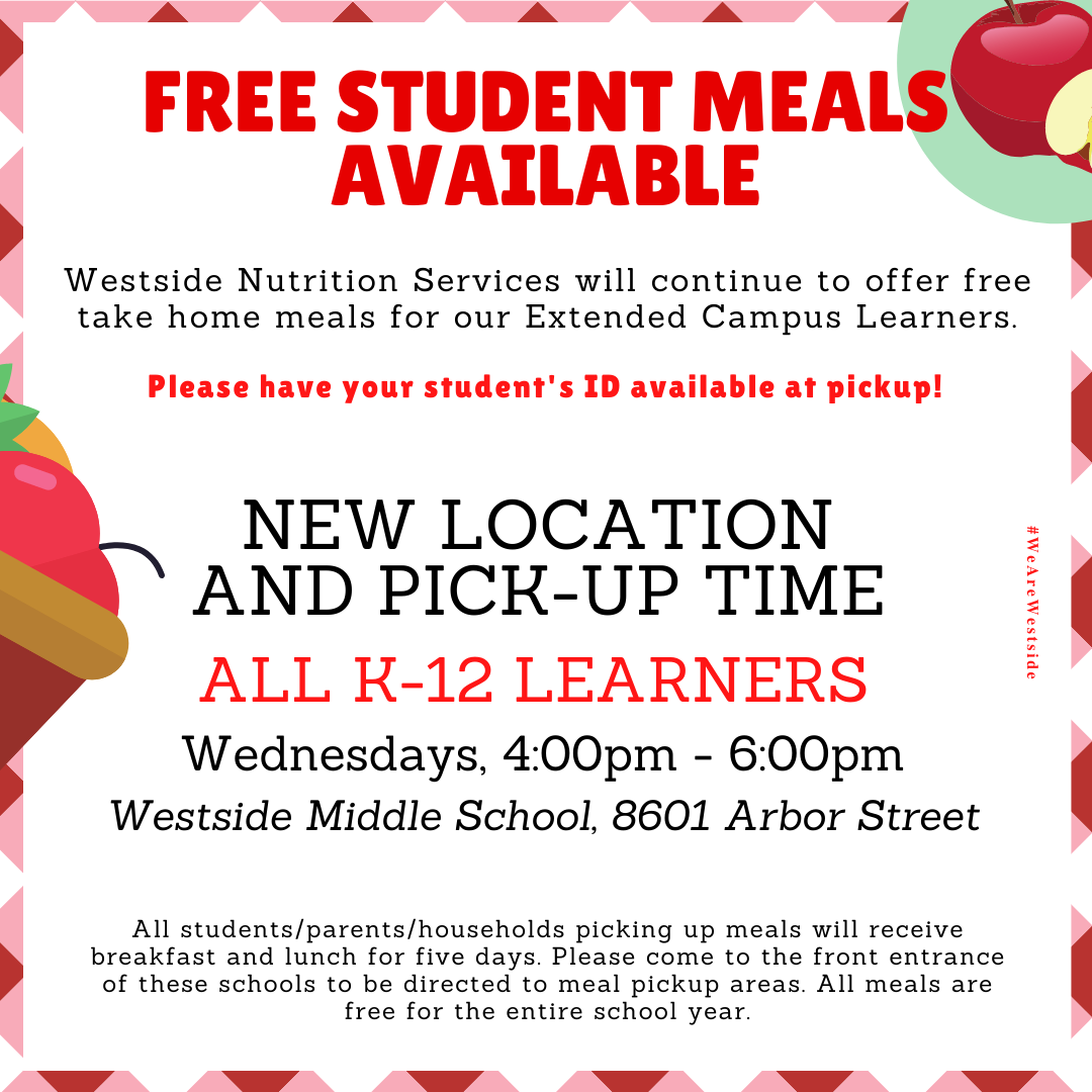 November 19, 2020 | Westside To Provide Free Take-Home Meals Through December 16