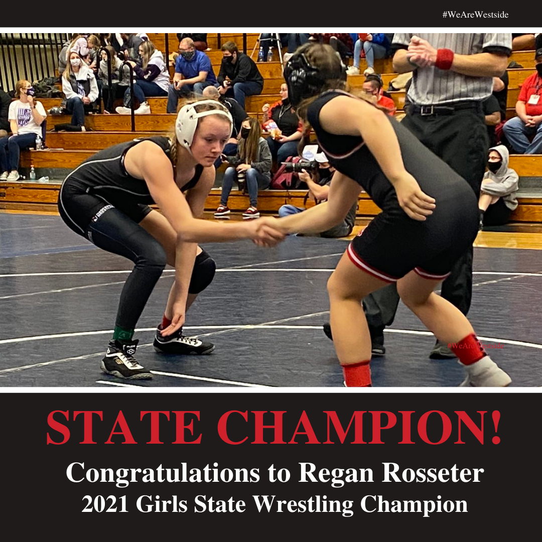 Rosseter Makes History As First Girls State Wrestling Champion
