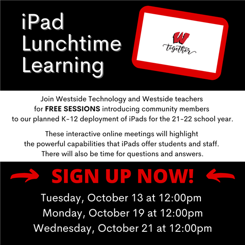 October 8, 2020 | District Offers Free iPad Lunchtime Learning Sessions