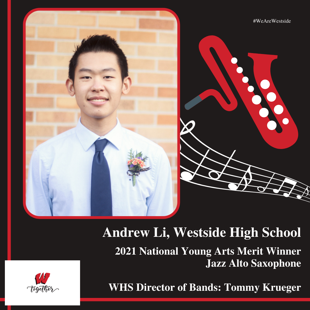 Student Andrew Li Named A 2021 National Young Arts Merit Winner